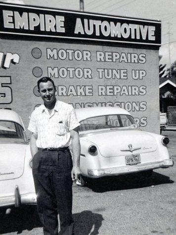 Lewis Dorsett in Santa Rosa, circa 1956.
