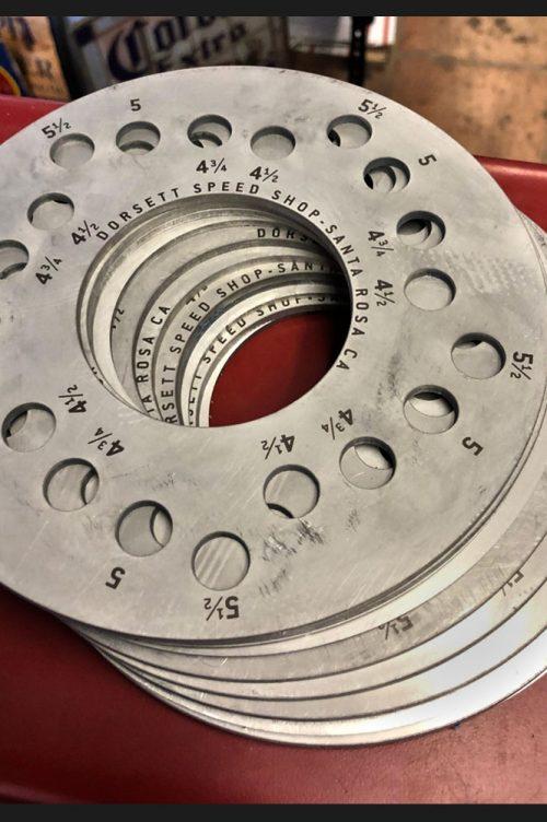 Lug pattern tool by Dorsett Speed Shop.